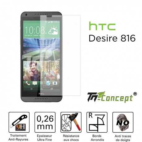 HTC Desire 816 - Vitre de Protection Crystal - TM Concept®