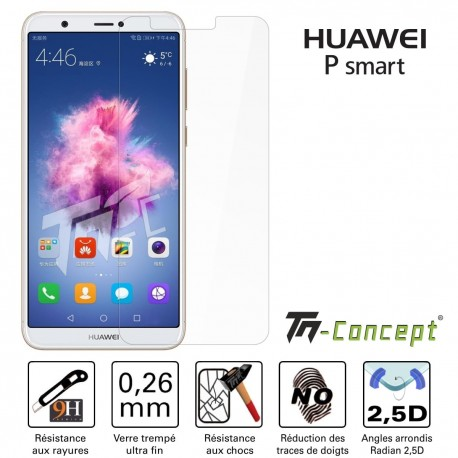 Huawei P Smart - Vitre de Protection Crystal - TM Concept®