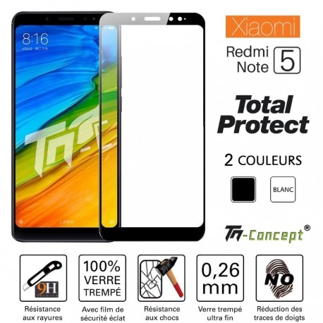 Xiaomi Redmi Note 5 - Vitre de Protection - Total Protect - TM Concept®