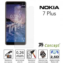 Nokia 7 Plus - Vitre de Protection Crystal - TM Concept®