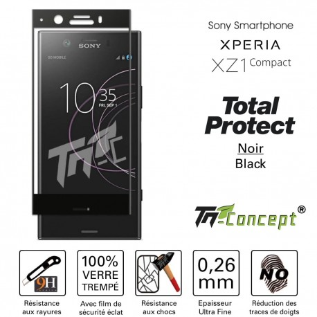 Sony Xperia XZ1 Compact - Vitre de Protection - Total Protect - TM Concept®
