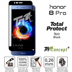 Huawei Honor 8 Pro - Vitre protection intégrale - 100% verre trempé avec cadre Noir - TM Concept®