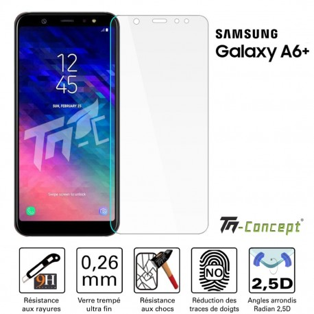 Samsung Galaxy A6 Plus (2018) - Vitre de Protection Crystal - TM Concept®