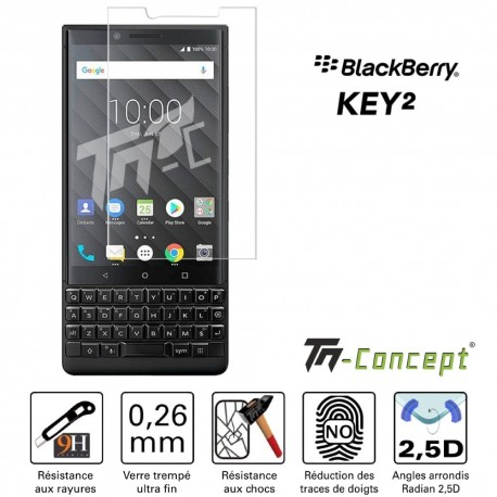 BlackBerry KEY2 - Vitre de Protection Crystal - TM Concept®