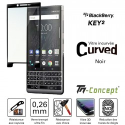 BlackBerry KEY2 - Vitre de Protection 3D Curved - TM Concept®