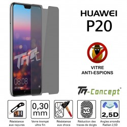 Huawei P20 - Vitre de Protection Anti-Espions - TM Concept®