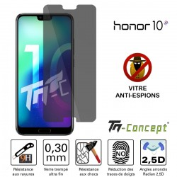 Huawei Honor 10 - Vitre de Protection Anti-Espions - TM Concept®