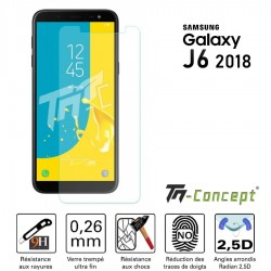 Samsung Galaxy J6 (2018) - Vitre de Protection Crystal - TM Concept®