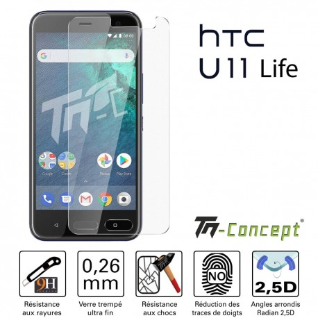HTC U11 Life - Vitre de Protection Crystal - TM Concept®