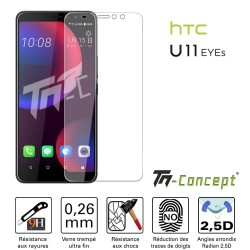 HTC U11 EYEs - Vitre de Protection Crystal - TM Concept®