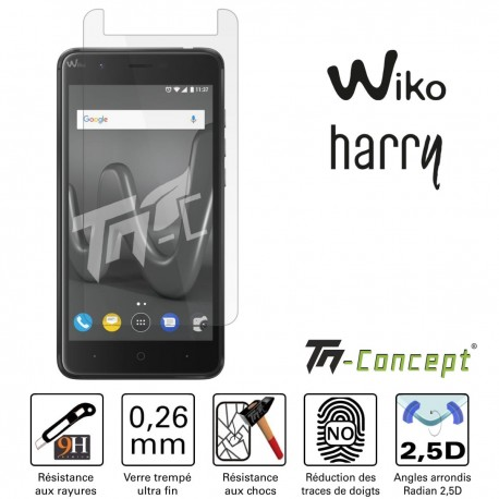 Wiko Harry - Vitre de Protection Crystal - TM Concept®