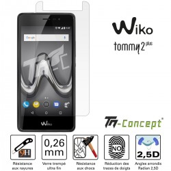 Wiko Tommy 2 Plus - Vitre de Protection Crystal - TM Concept®