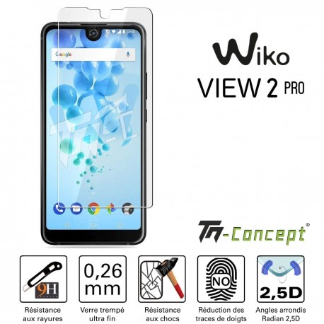 Wiko View 2 Pro - Vitre de Protection Crystal - TM Concept®