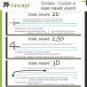 Huawei Mate 10 - Vitre verre trempé protection intégrale - Noir - TM Concept® Total Protect