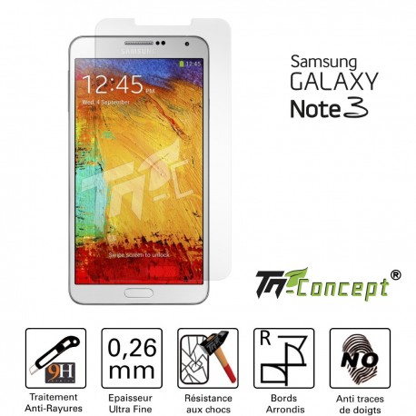 Samsung Galaxy Note 3 - Vitre de Protection Crystal - TM Concept®