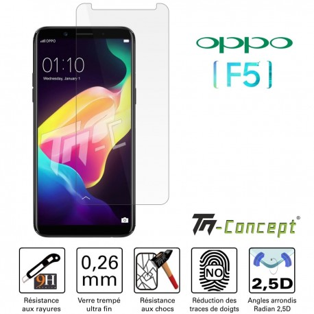 Oppo F5 - Verre trempé TM Concept® - Gamme Crystal
