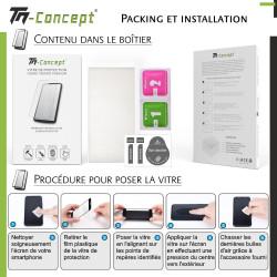 HTC U12+ Vitre protection intégrale - verre trempé avec cadre Noir - TM Concept®