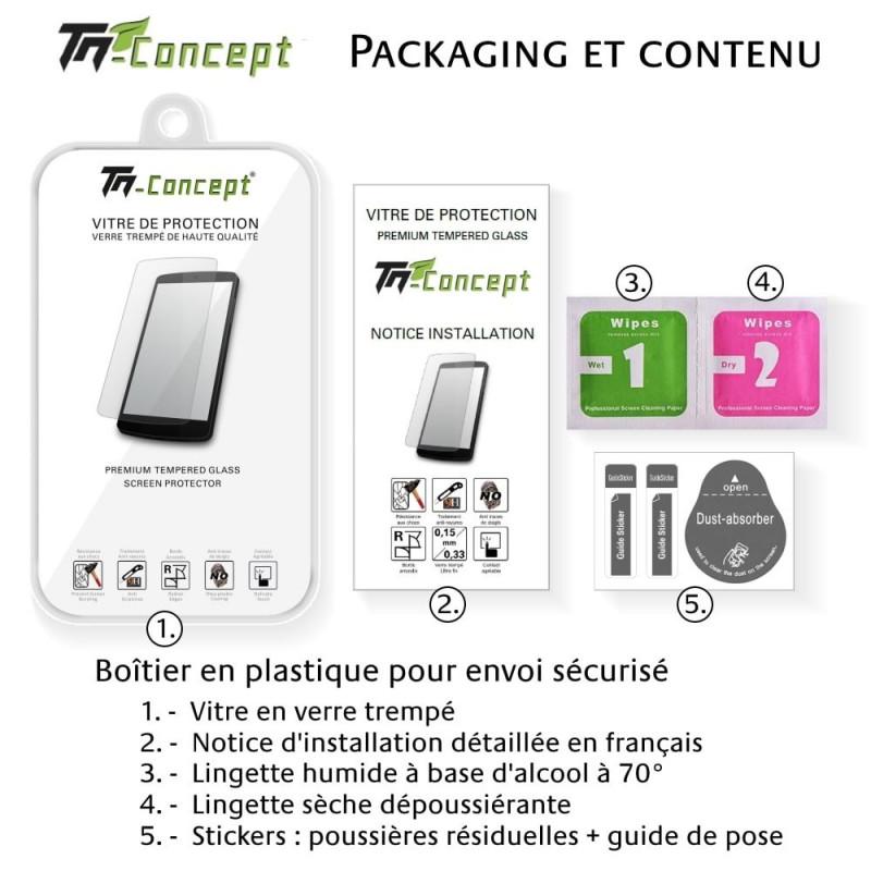 Samsung Galaxy A6 Plus (2018) - Vitre protection intégrale - verre trempé avec cadre Noir - TM Concept®
