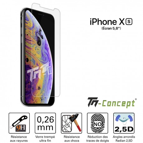 Apple iPhone XS - Verre trempé TM Concept® - Gamme Crystal