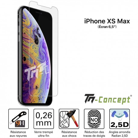 Apple iPhone XS Max - Verre trempé TM Concept® - Gamme Crystal