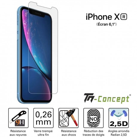 Apple iPhone XR - Verre trempé TM Concept® - Gamme Crystal
