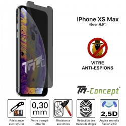 Apple iPhone XS Max - Verre trempé teinté Anti-Espions - TM Concept®