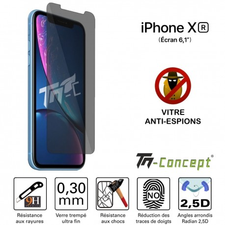 Apple iPhone XR - Verre trempé Anti-Espions - TM Concept®