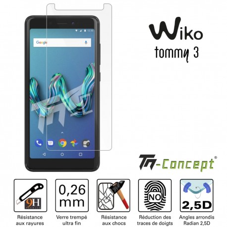 Wiko Tommy 3 - Verre trempé TM Concept® - Gamme Crystal