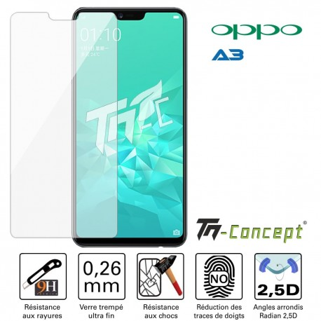 Oppo A3 - Verre trempé TM Concept® - Gamme Crystal