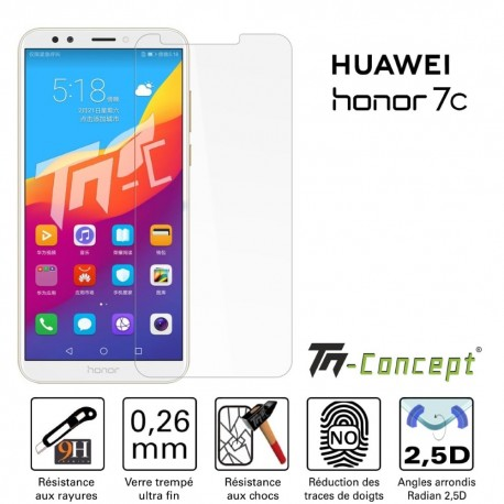 Huawei Honor 7C - Verre trempé TM Concept® - Gamme Crystal
