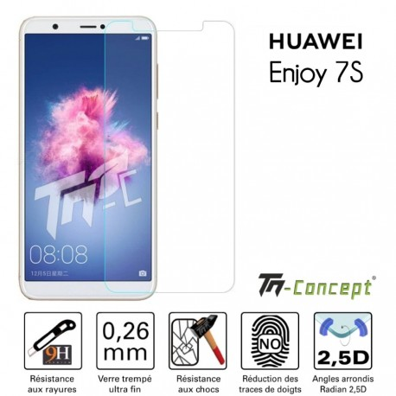 Huawei Enjoy 7s - Verre trempé TM Concept® - Gamme Crystal