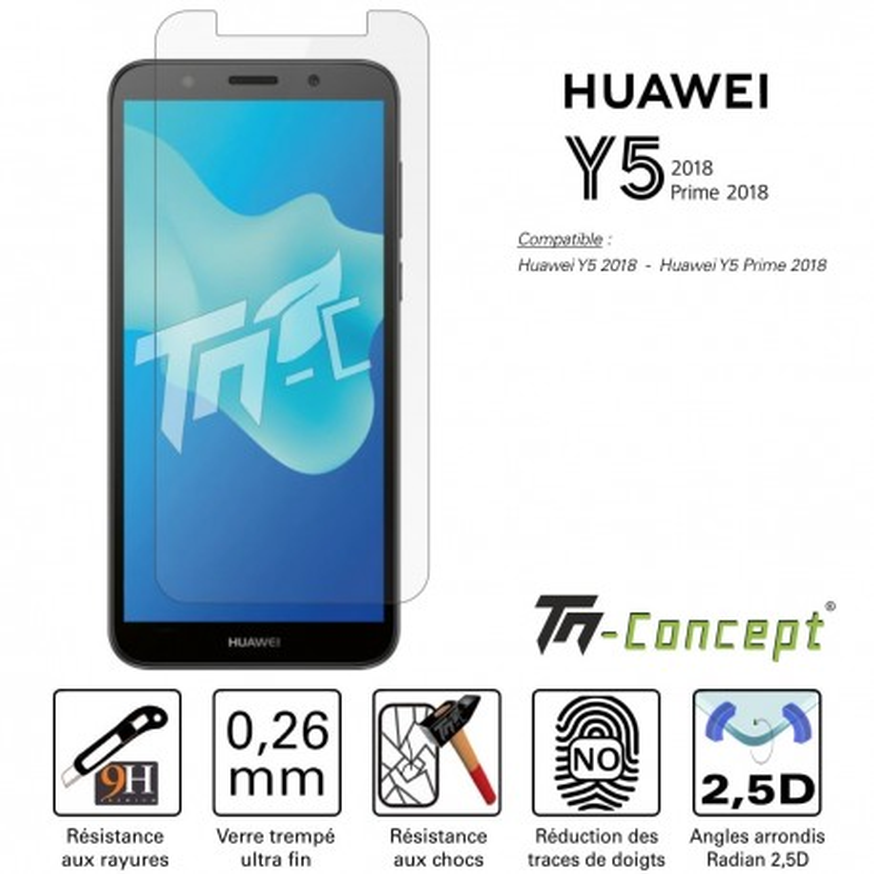 Huawei Y5 2018 / Y5 Prime 2018 - Verre trempé TM Concept® - Gamme Crystal