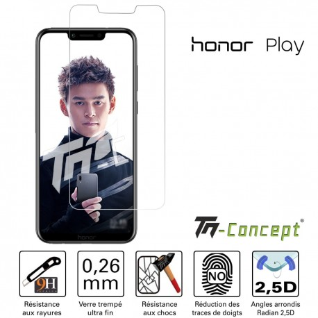 Huawei Honor Play - Verre trempé TM Concept® - Gamme Crystal