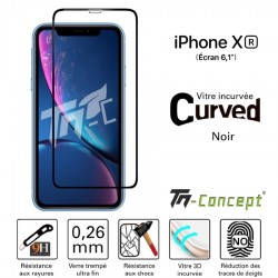 Apple iPhone XR - Vitre de Protection 3D Curved - Noir - TM Concept®