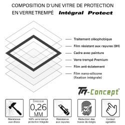 Samsung Galaxy Note 8 - Verre trempé incurvé 3D Silicone - Noir - TM Concept®