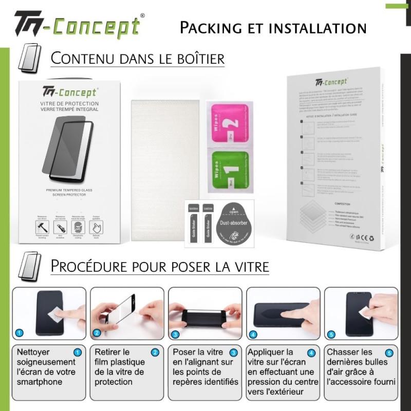 Asus Zenfone 5 ZE620KL - Verre trempé intégral avec cadre Noir - TM Concept®
