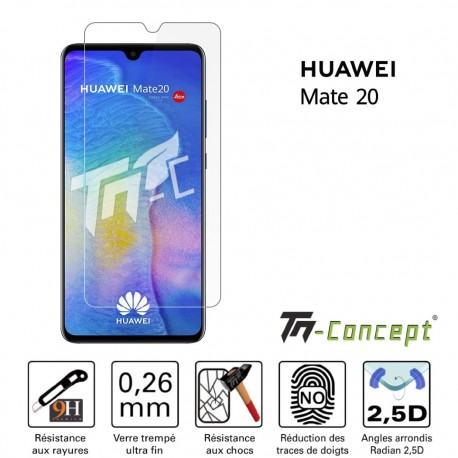 Huawei Mate 20 - Verre trempé TM Concept® - Gamme Crystal