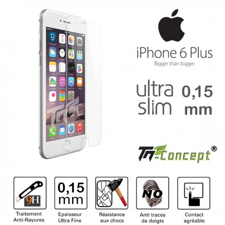Apple Iphone 6 / 6S Plus - Vitre de Protection Ultra Slim 0,15 mm - TM Concept®