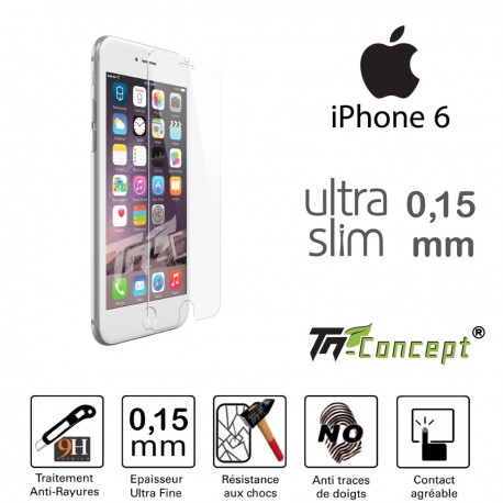 Apple Iphone 6 / 6S - Vitre de Protection Ultra Slim 0,15 mm - TM Concept®
