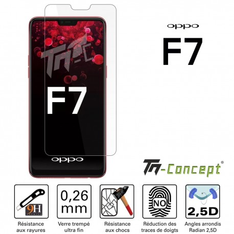 Oppo F7 - Verre trempé TM Concept® - Gamme Crystal
