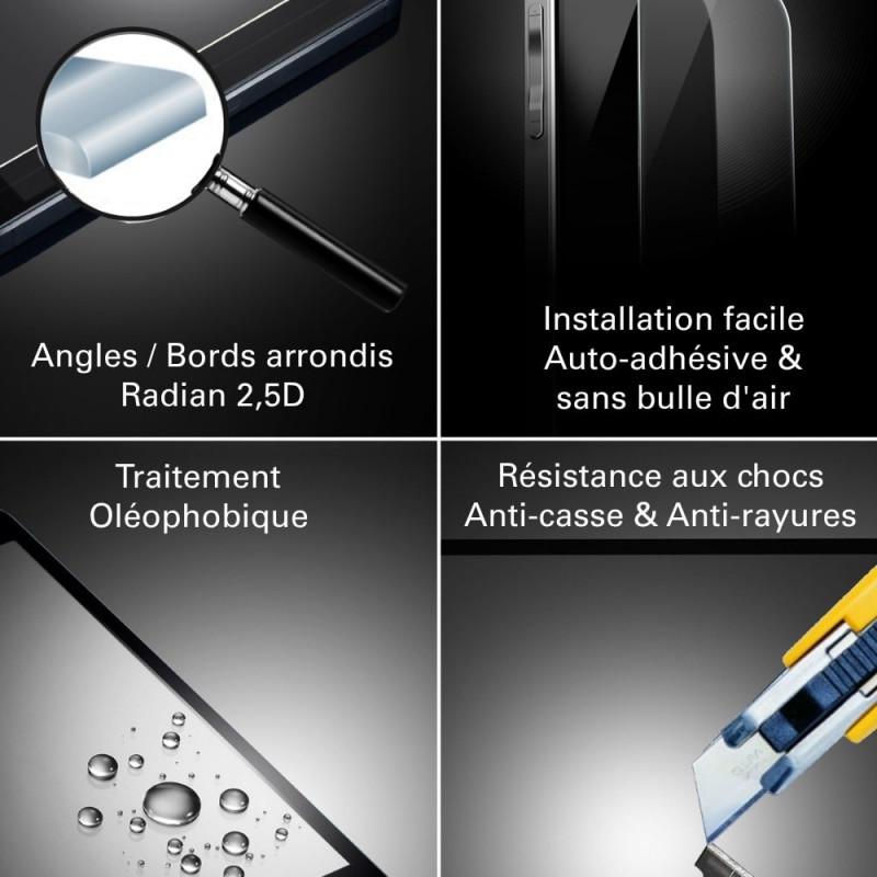 Samsung Galaxy A8 (2018) - Verre trempé Anti-Espions - TM Concept®