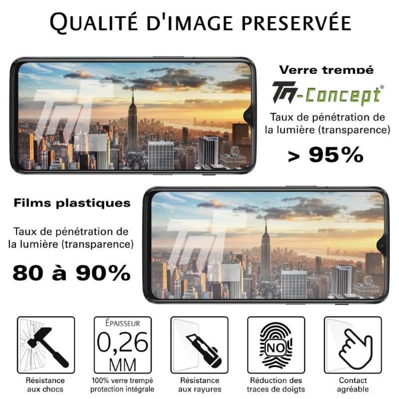 Asus Zenfone 3 Max ZC553KL - Verre trempé intégral avec cadre Noir - TM Concept®