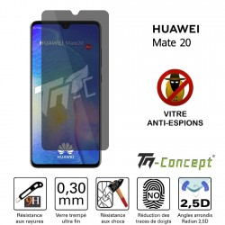 Huawei Mate 20 - Verre trempé Anti-Espions - TM Concept®