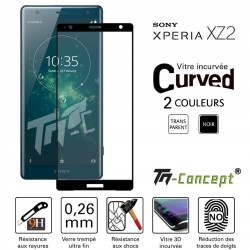 Sony Xperia XZ2 - Vitre de Protection 3D Curved - TM Concept®