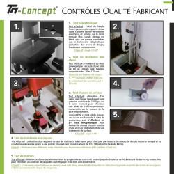 OnePlus 6T - Verre trempé intégral avec cadre - TM Concept®