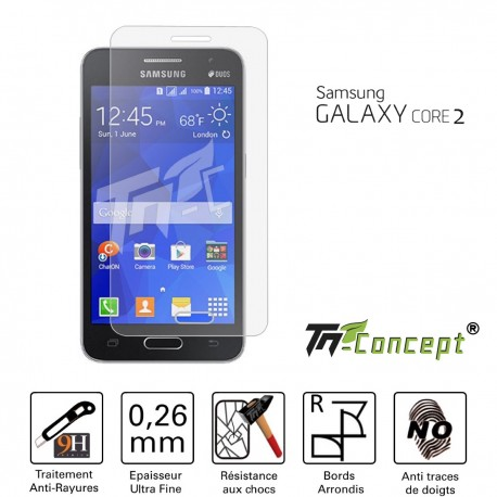 Samsung Galaxy Core 2 - Vitre de Protection Crystal - TM Concept®