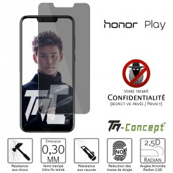 Huawei Honor Play - Verre trempé Anti-Espions - TM Concept®