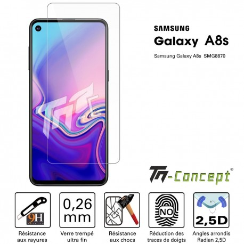 Samsung Galaxy A8s - Verre trempé TM Concept® - Gamme Crystal