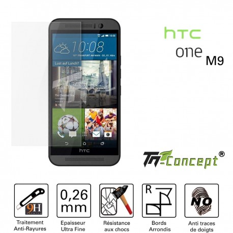 HTC One M9 - Vitre de Protection Crystal - TM Concept®