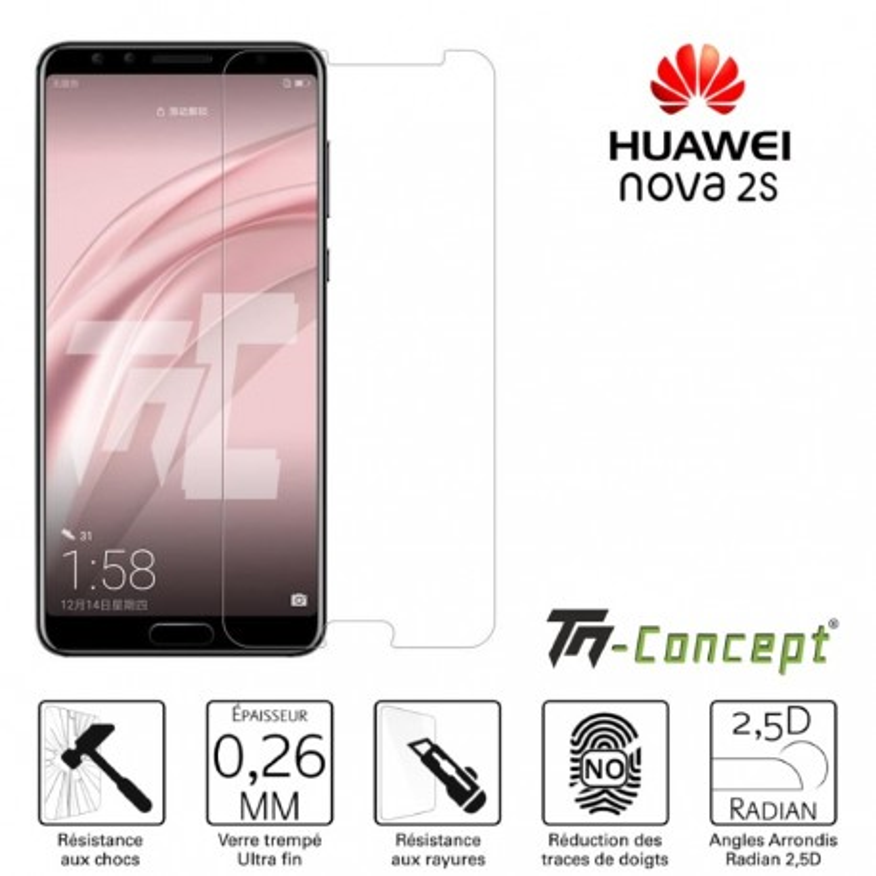 Huawei Nova 2s - Verre trempé TM Concept® - Gamme Crystal
